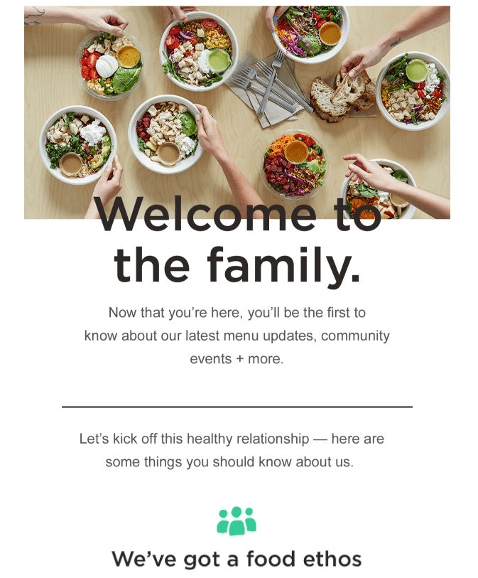 welkom email marketing