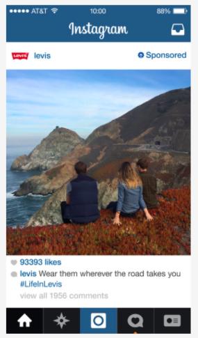 5 social advertising trends 2018 - Instagram levi's