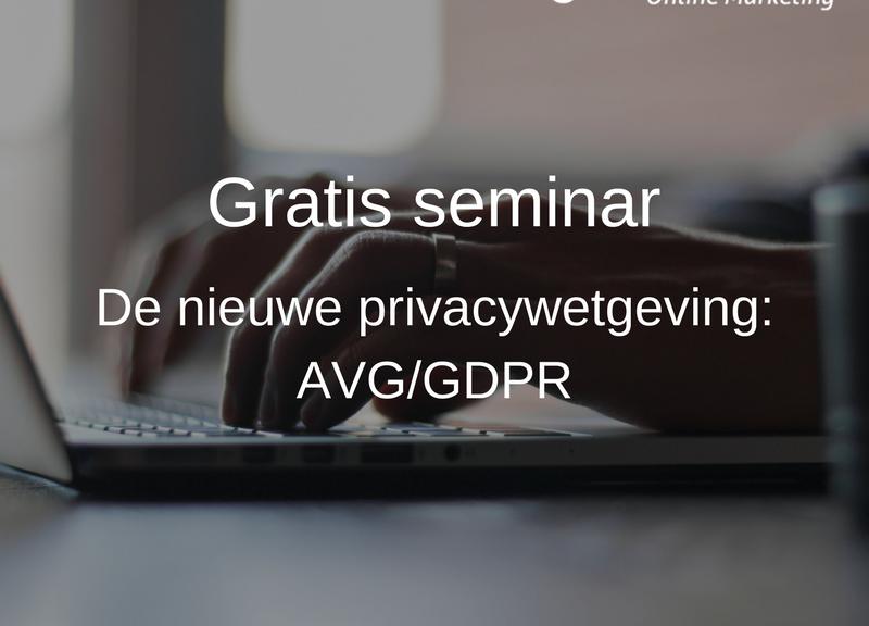 gratis AVG/GDPR seminar