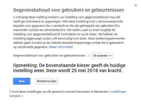 Wat Houdt Gegevensbehoud In Google Analytics In