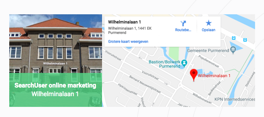 Google maps kaart op website