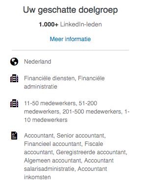 geschatte LinkedIn doelgroep Q-impact