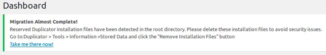 Waarschuwing installer bestanden