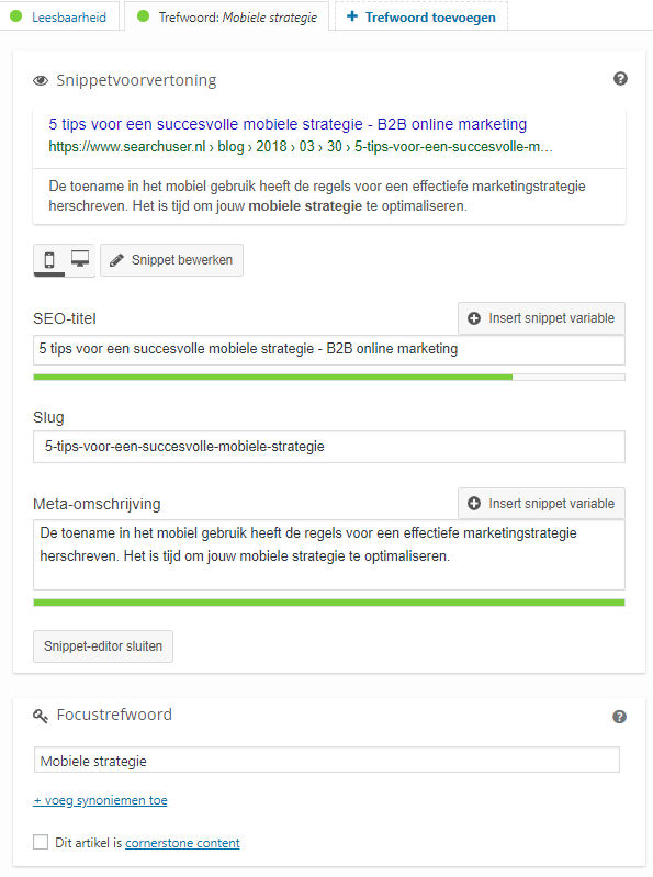 SEO optimalisatie tips