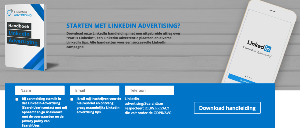 LinkedIn-advertising.nl fundering