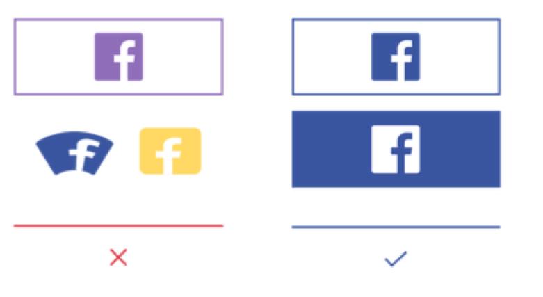 Gebruik van Facebook logo volgens Facebook policy