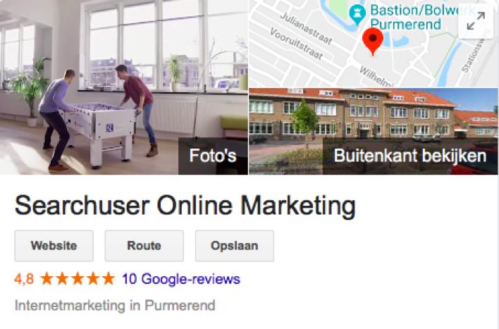 Reviews in Google ' Mijn bedrijf '