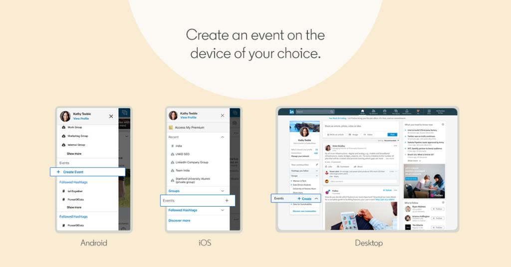 LinkedIn Events feature - event aanmaken