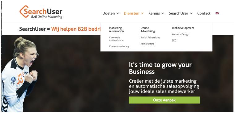 Navigatie structuur SearchUser - meest gemaakte fouten op een b2b website