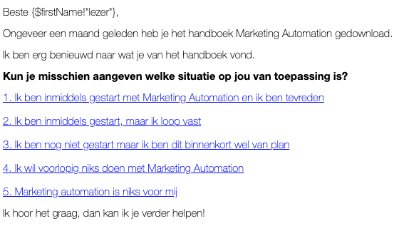 situatie bepaling in e-mail