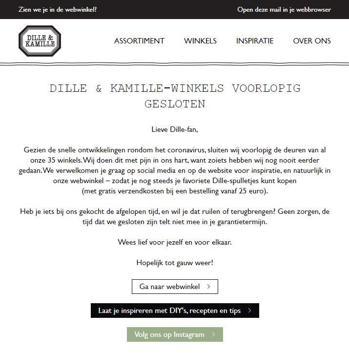 e-mailmarketing tijdens de coronacrisis - top of mind blijven
