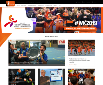 Handbal webdevelopment